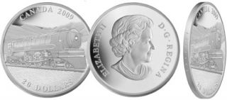2009 - $20 Fine Silver Coin - Great Canadian Locomotives: Jubilee