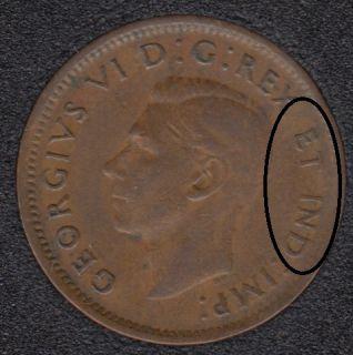 1944 - Double ET IND - Canada Cent