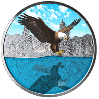 2019 - $20 - 1 oz. Pure Silver Coin - Bald Eagle Reflection