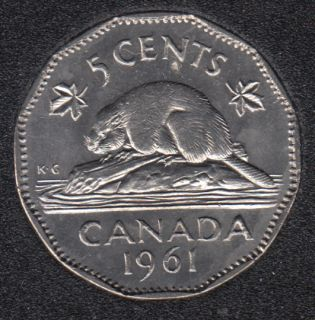 1961 - B.Unc - Canada 5 Cents