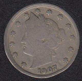 1907 - Liberty Head - 5 Cents