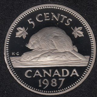 1987 - Proof - Canada 5 Cents