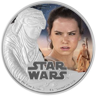 2016 Niue Star Wars: The Force Awakens - Rey 1 oz Silver Colorized Proof $2