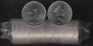 1992 Canada 25 Cents Alberta - BU ROLL 40 Coins - UNC