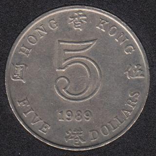 1989 - 5 Dollars - Hong Kong