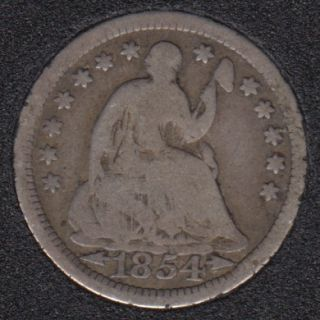 1854 - Liberty Seated - Half Dime