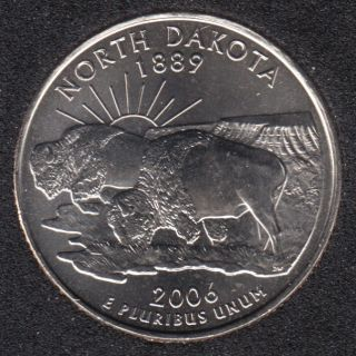 2006 D - B.Unc - North Dakota - 25 Cents