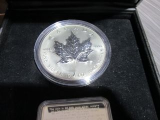 1998 - $50 - Fine Silver Maple Leaf - 10Th Anniv. - 10 OZ Troy
