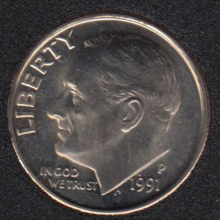 1991 P - Roosevelt - B.Unc - 10 Cents