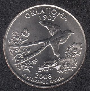 2008 D - Oklahoma - 25 Cents