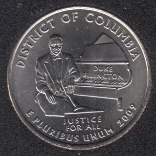 2009 D - B.Unc - Distric of Columbia - 25 Cents