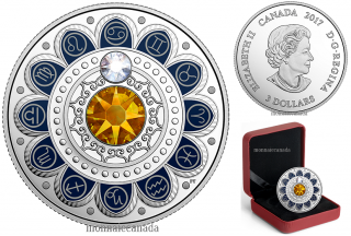 2017 - $3 - Pure Silver coin – Zodiac - Cancer