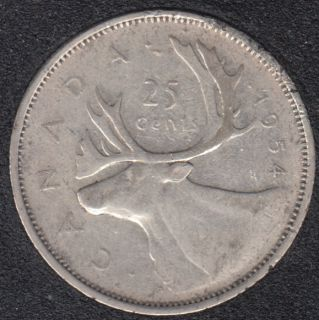 1954 - Canada 25 Cents