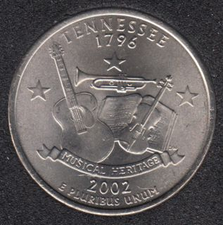 2002 P - Tennesse - 25 Cents