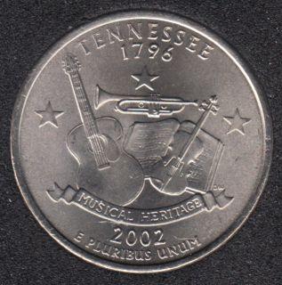 2002 P - B.Unc - Tennesse - 25 Cents