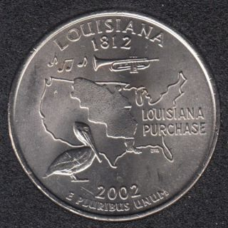 2002 P - B.Unc - Louisiana - 25 Cents