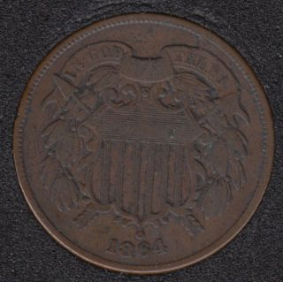 1864 - Shield - Rotated Dies +- 90° - Two Cents
