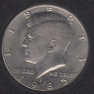 1985 D - Kennedy - 50 Cents