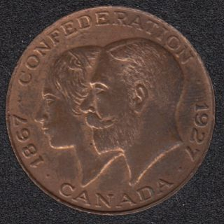 1927 - 1867 - B.Unc - Confederation -  King George and his Queen, Mary of Teck (a German princess) - Medaillion