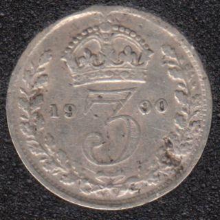 1900 - 3 Pence - Grande Bretagne