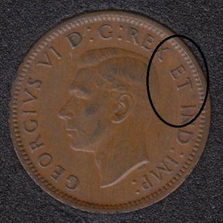 1940 - Break X ET I Attached - Canada Cent