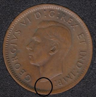 1945 - Break Bust to Rim - Filling A - Canada Cent