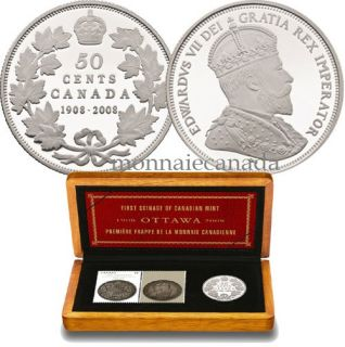 2008 RCM Centennial 50 Cents Silver Proof & Stamp Set