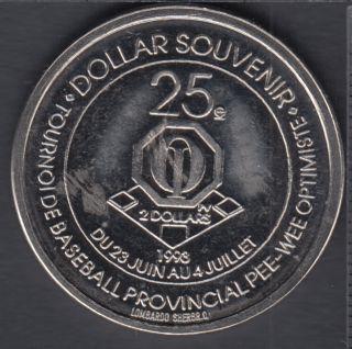 Notre-Dame-du-Mont-Carmel - 1993 - 25° Ann. Tournoi de Baseball Provincial Peewee - $2 Trade Dollar