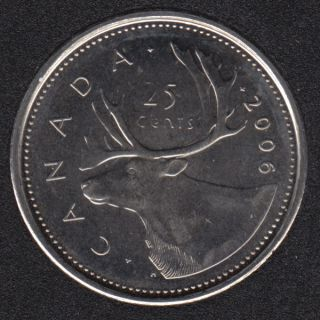 2006 Logo - B.Unc - Canada 25 Cents