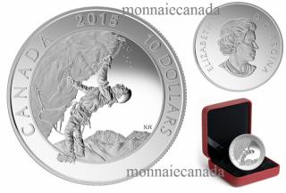 2015 - $10 - 1/2 oz. Fine Silver Coin – Adventure Canada: Ice Climbing