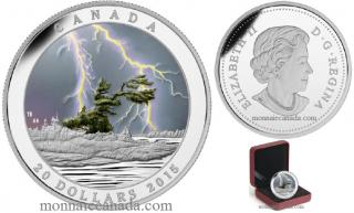 2015 Canada $20 Dollars Argent Fin - Tempête d'été – Phénomènes météo