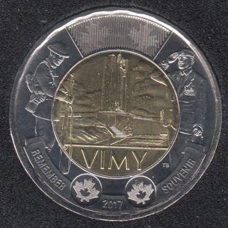 2017 - B.Unc - Vimy - Canada 2 Dollars