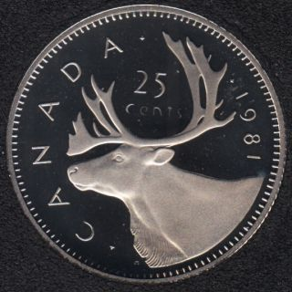 1981 - Proof - Canada 25 Cents