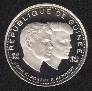 Guinea - 1970 - 200 Francs - John F & Robert Kennedy - Fine Silver