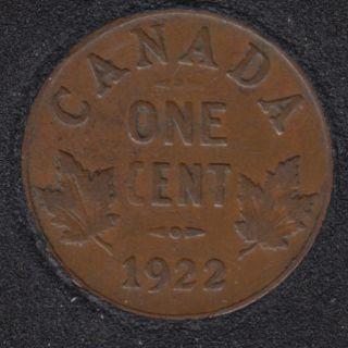 1922 - Canada Cent