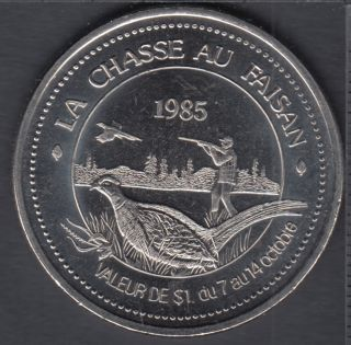 Rimouski - 1985 - Festival d'Automne - Dollar Ti-Cousin - $1 Dollar de Commerce