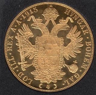 Austria 1915 - 4 Ducat Gold Coin