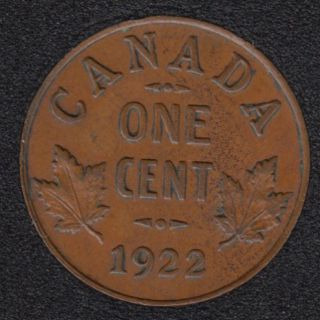 1922 - EF - Canada Cent
