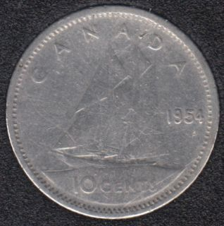 1954 - Canada 10 Cents