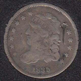 1835 - Capped Bust  - Small Date Small 5¢- Half Dime