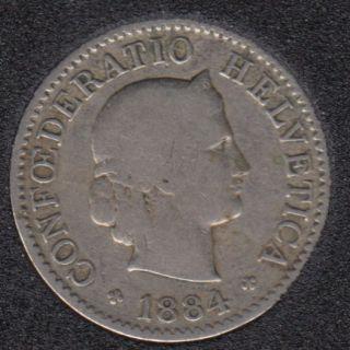 1884 B - 5 Rappen - Suisse