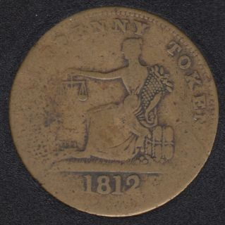 L.C. 1812 Imitation Tiffin Half Penny Token - LC-48B2