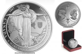 2017 - $100 - 10 oz. Pure Silver Coin - Canadian Confederation Medals: A Mari Usque Ad Mare