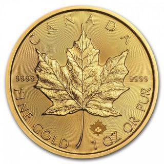 2021 - $50 - 1oz Fine Gold 9999 - Gold Maple Leaf