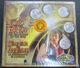 2002 Reelcoinz Collectibles - 5 Medallions & Stickers - The Lord of the Rings
