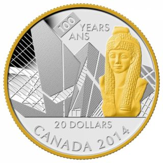 2014 - $20 - 1 oz. Fine Silver Coin - 100th Anniversary of the Royal Ontario Museum