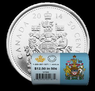 2014 Canada 50 Cents - Rouleau spécial de pièces de circulation