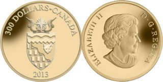 2013 - $300 - 14-Karat Gold Coin - Northwest Territories Coat of Arms