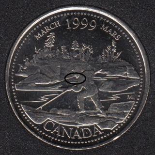 1999 - #3 B.Unc - Mars - XWL - Canada 25 Cents