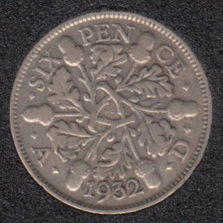 1932 - 6 Pence - Grande Bretagne